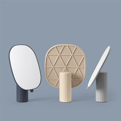 A table mirror can serve various purposes. Place a table mirror on a vanity table or bathroom shelf, or use a decorative table mirror to highlight the decor of your living room. Vases, Spiegel Design, Triangular Pattern, Muuto, Spiegel Online, Standing Mirror, Interior Decorating, Interior Design, Design Language