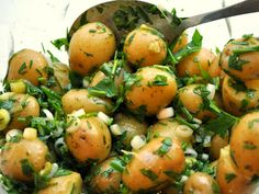 Herbed New Potato Salad (traditionally served on Midsummer in Sweden to celebrate the new potatoes in the garden.)