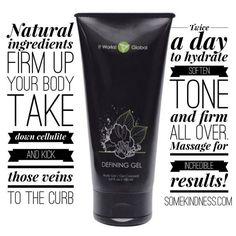 Did you know that It Works! Defining gel not only smooths out cellulite and deeply hydrates the skin but it could also be used to brighten up old faded tattoos?!  This liquid gold is a must have!