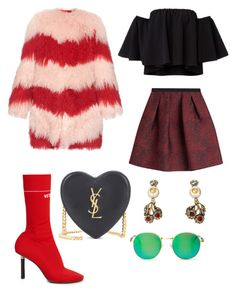 """""""Untitled #414"""" by rubysparks90 on Polyvore featuring Vetements, Burberry, House of Holland, Yves Saint Laurent, Gucci and Wildfox"""
