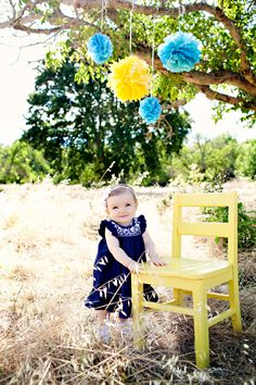sweet baby girl #family photography #blue #yellow