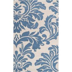 Art of Knot Pinson Wool Area Rug, Blue