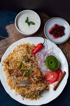 This is Pakistani Chicken Biryani Recipe home style, hearty biryani with delicious flavors full of herbs and aroma. I suggest, serve it hot right after dum (steaming) with raita and kachumber salad for best taste. Chicken Biryani Recipe Pakistani, Pakistani Chicken Recipes, Biryani Chicken, Pakistani Recipes, Veg Recipes, Indian Food Recipes, Healthy Dinner Recipes, Appetizer Recipes, Arabic Recipes