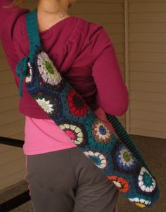 Hexy Yoga Mat Bag....like the hexagon grannies