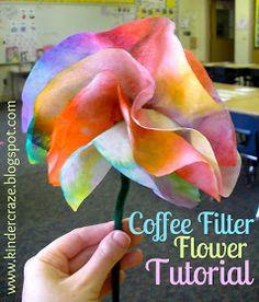 Kinder-Craze: Coffee Filter Flowers Tutorial