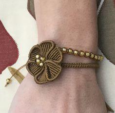 Pick Your Colour Macrame Flower Bracelet by PrettyKnotsnBeads