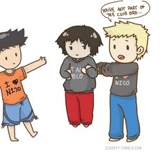 Nico Club 2. (Look at Percy´s face xD)