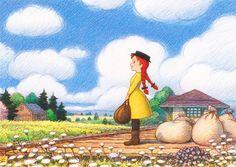 赤毛のアン Anne of Green Gables Anne Auf Green Gables, Anne Shirley, Old Anime, Anime Art Girl, Painting Inspiration, Art Drawings, Images, Illustration Art, Animation