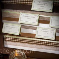 ribbon escort card by rachelpp Ribbon Boards, Wedding Themes, Wedding Ideas, Amigurumi Patterns, Spring Wedding, Wedding Pictures, Create Yourself, Real Weddings, Christmas Cards