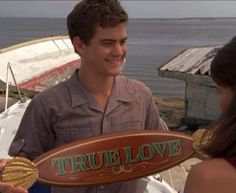 Sexy Pacey and his boat