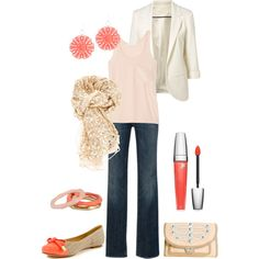 """Peachy"" by kswirsding on Polyvore"