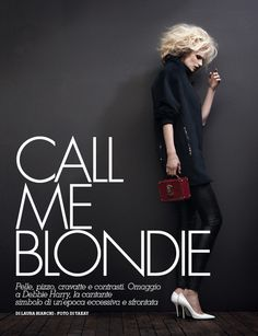 Call Me Blondie | Katrin Thormann | Takay #photography | Velvet October 2012