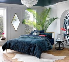 Matthew Williamson CB2 Collection Teal Printed Bedding