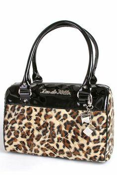 Black & Leopard Mini Atomic Tote Bag by Lux De Ville   Bags