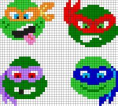 Teenage Mutant Ninja Turtles Perler Bead Pattern