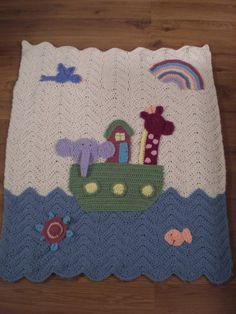 Ravelry: Noahs Ark Blanket pattern by Michele Wilcox Crochet Afghans, Crochet Baby Blanket Free Pattern, Crochet Patterns, Manta Crochet, Crochet Magazine, Love Crochet, Baby Knitting, Crochet Projects, Baby Blankets