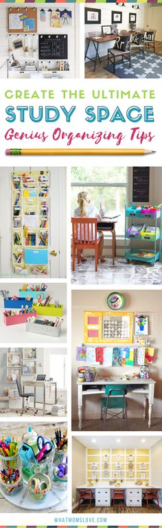 How to Create a Homework Station for kids   The best organization ideas for making a study space at home for elementary school kids to teens. Incredible tips, hacks and motivation   Many are DIY and portable - great for small spaces!