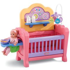 play with your doll! A baby doll crib, playpen, changing table and high chair! This delightful nursery will help your little one develop a nurturing side and foster imaginative