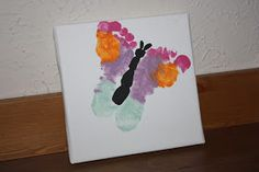Christy: Baby Footprint Butterfly