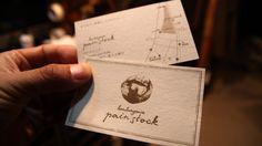 boulangerie pain stock | パンストック | 青い月 ショップカード/パン屋