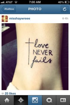 Love Never Fails... I think I love this one!                                                                                                                                                                                 More
