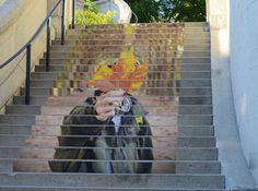 Stair street art, Ottawa Canada
