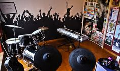 mosh pit painted wall
