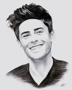 Zac Efron done by me - instagram: @kce_art