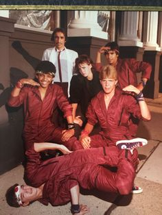 My dad and his breakdancing crew back in the Matching red jumpsuits and all Red Jumpsuit, More Pictures, Poses, Look Cool, Fashion Pictures, Viral Videos, Trending Memes, Cool Kids, Vintage Photos