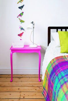 Upcycled bedside table. As seen in Style at Home magazine