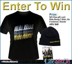 Enter To Win A Ride Along Movie Prize Pack! #RideAlong via @yYourLifeAfter25. Click here to enter