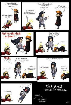 Naruto, Hinata, and Pain. How the fight should have gone, hahaha.