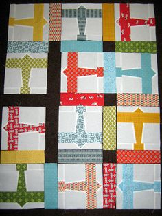 I am going to make this with just the tie part for a missionary quilt. How cute would that be.