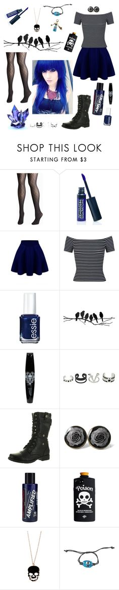 """""""Blue"""" by fangirling-is-health ❤ liked on Polyvore featuring Avenue, LunatiCK Cosmetic Labs, Miss Selfridge, Essie, ferm LIVING, Reneeze, Manic Panic NYC and Disney"""