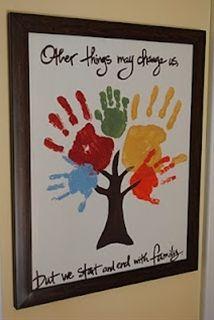 Naptime Decorator: Family Handprint Tree