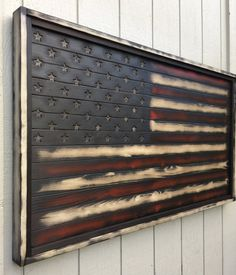 "Beautiful Custom Distressed Wooden Old Glory ""Pure Freedom"" American Flag, Weathered, One of a kind, vintage, distressed, wall art, USA"