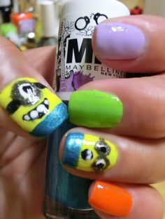 Summer Nail Art Minions this Summer!  Marketing for Nail Technicians