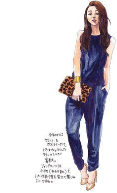 oookickooo きくちあつこ イラスト ファッション コーディネート ジャンプスーツ スタイルハウス STYLE HAUS ほぼ日手帳