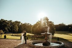 """Botleys Mansion Wedding Venue on Instagram: """"Not a bad backdrop for your first photos as Mr & Mrs ❤️ 📸 @jacobmalinskiphoto  #botleysmansion #summerwedding #surreywedding #summervenue…"""" Botleys Mansion Wedding, Mr Mrs, Surrey, First Photo, Summer Wedding, Fountain, Backdrops, Wedding Venues, Mansions"""