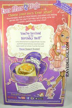 Ever After High Birthday Ball Cedar Wood doll (back of box) Credit: raydelsol
