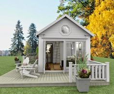 Modern Tiny House, Tiny House Cabin, Tiny House Living, Garden Cottage, Home And Garden, Farm House Colors, Forest House, Stone Houses, Outdoor Rooms