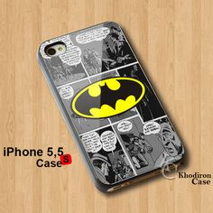 Amazing iPhone 5,5S,5C Case Batman Logo Comic Cover