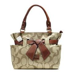 Coach Poppy Bowknot Signature Medium Khaki...... Get Coach bags at a fraction of the cost on this website!