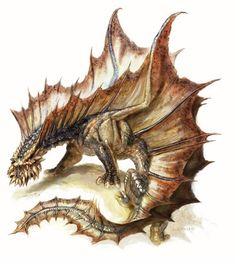 Please feel free to skip ahead of my insane ramblings and dumb pictures if you just need the fifth edition stat blocks for an ancient brown dragon. It's mid and the fifth edition of Dun… Types Of Dragons, Dnd Dragons, Dungeons And Dragons, Fantasy Dragon, Dragon Art, Fantasy Art, Dumb Pictures, Chromatic Dragon, Creature Picture