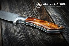 ACTIVE NATURE - Handmade Knives - Model RS I AN Damasteel and Desert Ironwood Handmade Knives, Nature, Model, The Great Outdoors, Models, Modeling, Mother Nature