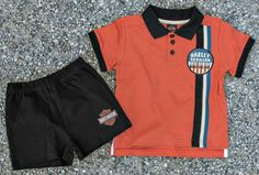 d69d06ac Harley-Davidson® Toddler Boys' Interlock Knit Polo and Shorts Set