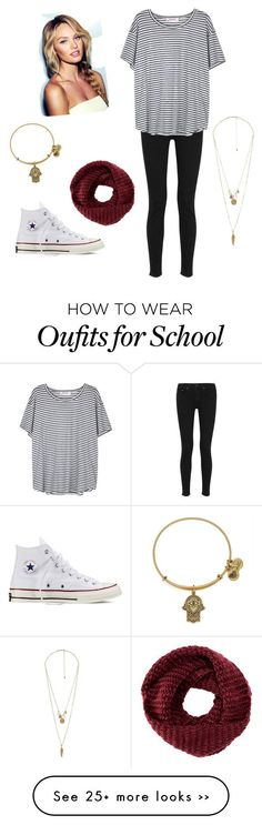 """easy fall school outfit"" by boyettesk on Polyvore featuring rag & bone, Organic by John Patrick, Converse, TOMS, Alex and Ani and Charlotte Russe"