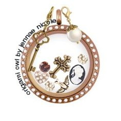 Origami Owl: Vintage design created by me. I love the rose gold! The vintage feel is beautiful ❤️ www.jennaenicole.origamiowl.com