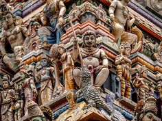 Temple of Sri Kailawasanathan Swami Devasthanam Kovil Rooftop, Temple, Architecture, World, Art, Arquitetura, Art Background, Rooftops, Temples