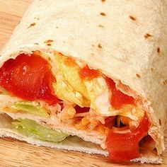 California Breakfast Burrito   This Recipe is appropriate for Phases 2, 3,  4 of the Atkins Diet. Join Atkins today to sign up for your Free Quick-Start Kit including 3 Atkins Bars and gain access to Free Tools and Community, as well as over 1,500 other Free Atkins-friendly Recipes.
